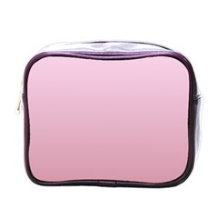 Pink Lace To Puce Gradient Mini Travel Toiletry Bag (one Side)