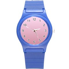 Pink Lace To Puce Gradient Plastic Sport Watch (Small)