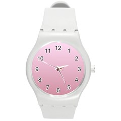 Pink Lace To Puce Gradient Plastic Sport Watch (Medium)
