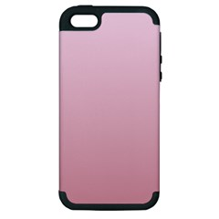 Pink Lace To Puce Gradient Apple Iphone 5 Hardshell Case (pc+silicone)