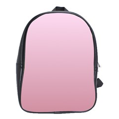 Pink Lace To Puce Gradient School Bag (xl)