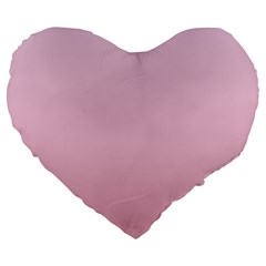 Pink Lace To Puce Gradient 19  Premium Heart Shape Cushion