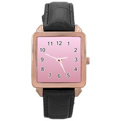 Pink Lace To Puce Gradient Rose Gold Leather Watch