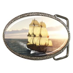 French Warship Belt Buckle (oval)