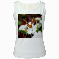 Butterfly 159 Womens  Tank Top (White)
