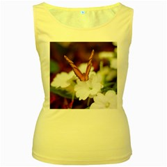 Butterfly 159 Womens  Tank Top (Yellow)