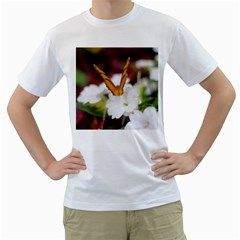 Butterfly 159 Mens  T-shirt (White)