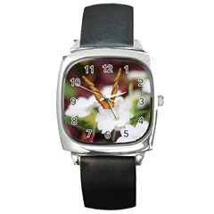 Butterfly 159 Square Leather Watch