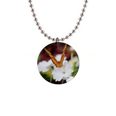Butterfly 159 Button Necklace