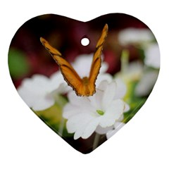 Butterfly 159 Heart Ornament (Two Sides)