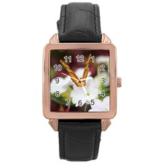 Butterfly 159 Rose Gold Leather Watch