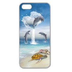 The Heart Of The Dolphins Apple Seamless Iphone 5 Case (clear)