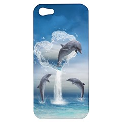 The Heart Of The Dolphins Apple iPhone 5 Hardshell Case