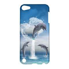 The Heart Of The Dolphins Apple Ipod Touch 5 Hardshell Case