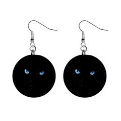 Black Cat Mini Button Earrings
