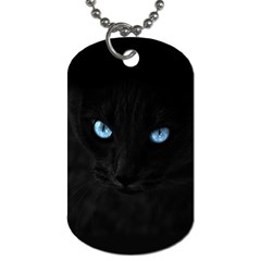 Black Cat Dog Tag (One Sided)