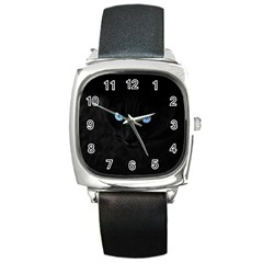 Black Cat Square Leather Watch