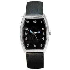 Black Cat Tonneau Leather Watch