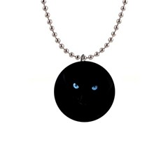 Black Cat Button Necklace