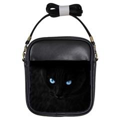 Black Cat Girl s Sling Bag