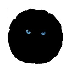 Black Cat 15  Premium Round Cushion