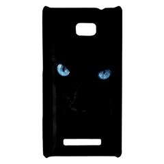 Black Cat HTC 8X Hardshell Case