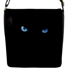 Black Cat Flap closure messenger bag (Small)