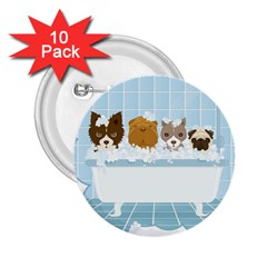 Dogs in Bath 2.25  Button (10 pack)