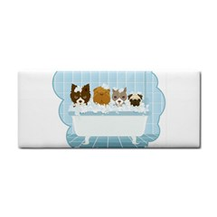 Dogs in Bath Hand Towel