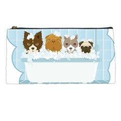 Dogs in Bath Pencil Case