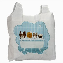 Dogs In Bath Recycle Bag (two Sides)