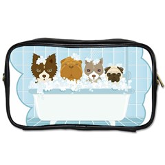 Dogs in Bath Travel Toiletry Bag (One Side)