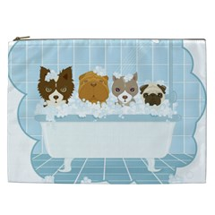 Dogs in Bath Cosmetic Bag (XXL)