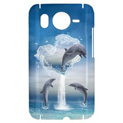 The Heart Of The Dolphins HTC Desire HD Hardshell Case
