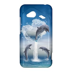 The Heart Of The Dolphins HTC Droid Incredible Hardshell Case