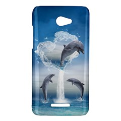 The Heart Of The Dolphins HTC X920E(Butterfly) Case