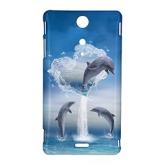 The Heart Of The Dolphins Sony Xperia TX Hardshell Case