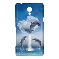 The Heart Of The Dolphins Sony Xperia T Hardshell Case
