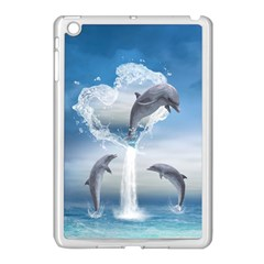 The Heart Of The Dolphins Apple iPad Mini Case (White)
