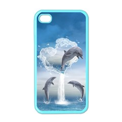 The Heart Of The Dolphins Apple iPhone 4 Case (Color)