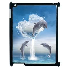 The Heart Of The Dolphins Apple Ipad 2 Case (black)