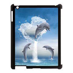 The Heart Of The Dolphins Apple iPad 3/4 Case (Black)