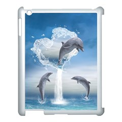 The Heart Of The Dolphins Apple iPad 3/4 Case (White)