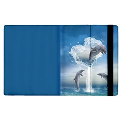 The Heart Of The Dolphins Apple iPad 2 Flip Case