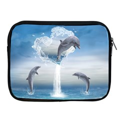 The Heart Of The Dolphins Apple iPad 2/3/4 Zipper Case