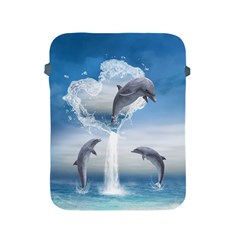 The Heart Of The Dolphins Apple iPad 2/3/4 Protective Soft Case