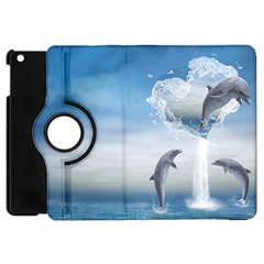 The Heart Of The Dolphins Apple Ipad Mini Flip 360 Case