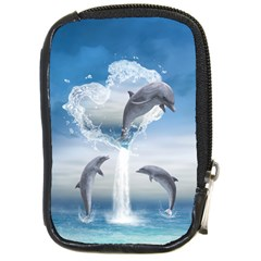 The Heart Of The Dolphins Compact Camera Leather Case