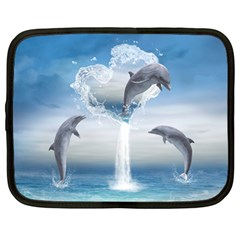 The Heart Of The Dolphins Netbook Case (large)