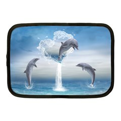 The Heart Of The Dolphins Netbook Case (medium)